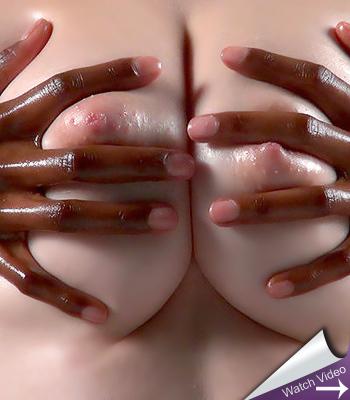 White and Black Breast Massage