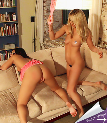 Brooke spanks bailey